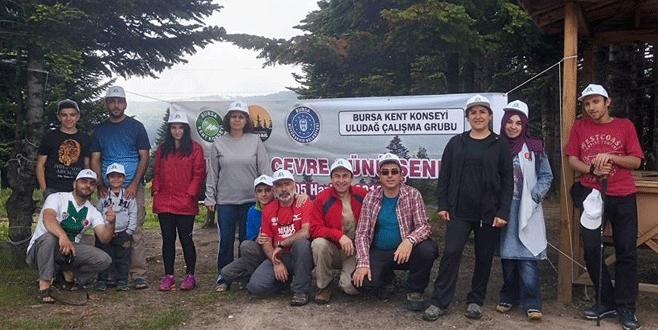 Dağcılar çevre için Uludağ'da buluştu