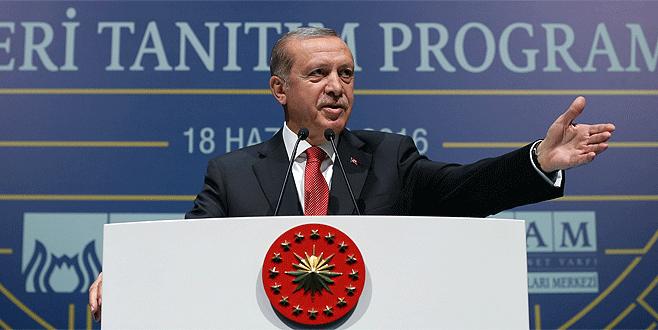 Erdoğan: 'Gezi Parkı'na o tarihi eseri inşa edeceğiz'