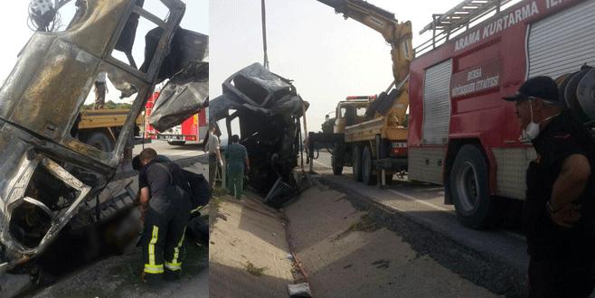 Bursa'da feci kaza! 2 kişi yanarak can verdi, yaralılar var