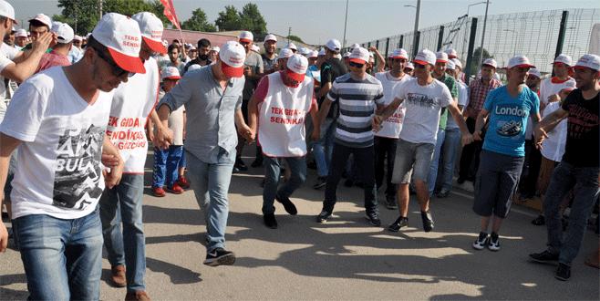 Nestle işçisi greve çıktı