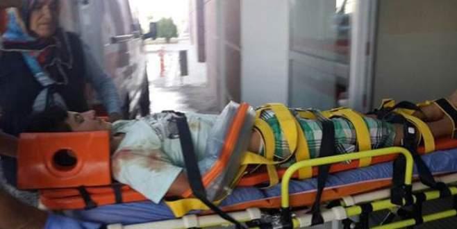 Bisikletiyle balkondan düştü!