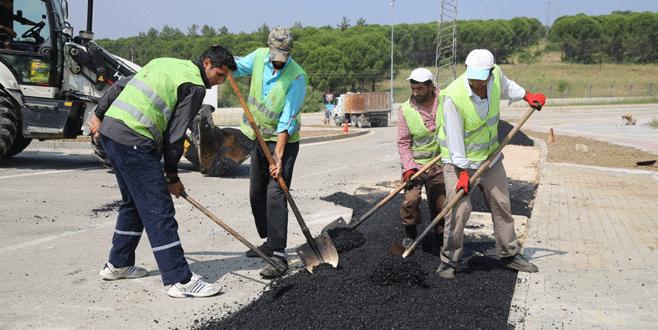 Nilüfer Belediyesi asfalt çalışmalarına hız verdi