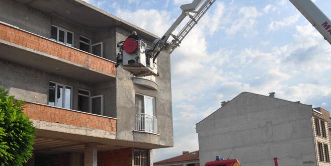 Bursa'da bebek kurtarma operasyonu