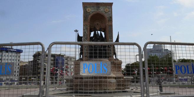 Taksim'de bariyerli önlem
