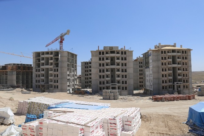 TOKİ'nin Karaman'da Yaptığı 998 Konutun İnşaatı Hızla Devam Ediyor