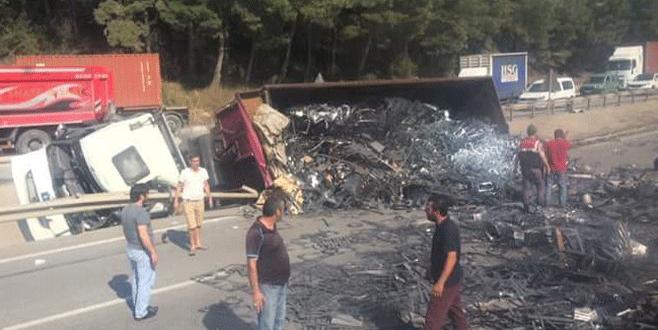 Bursa-İstanbul karayolu kapandı!