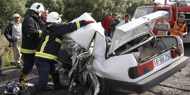 Bursa'da feci kaza can aldı