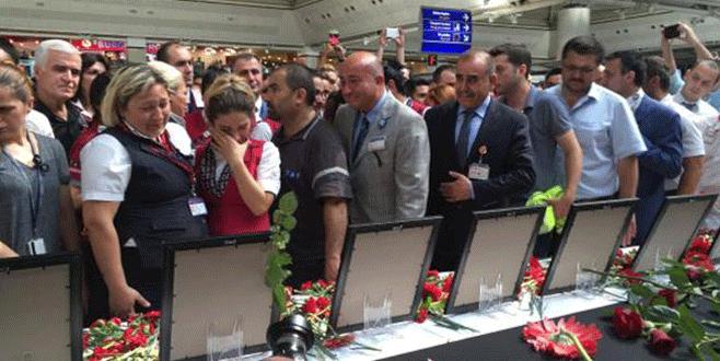 Atatürk Havalimanı'nda hüzünlü tören