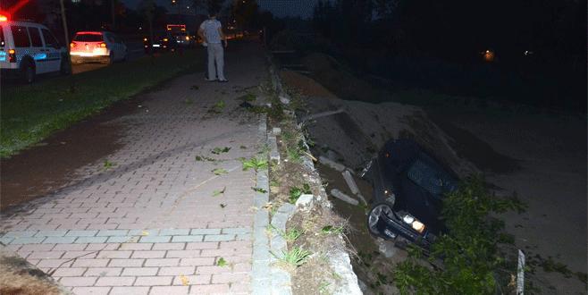 Bursa'da feci kazada burnu bile kanamadı