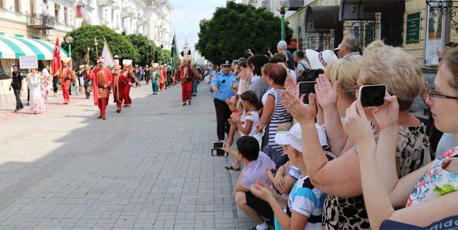 Bursa mehteri Ukrayna'yı salladı