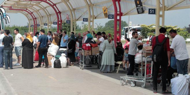 Bursa'da terminale akın ettiler