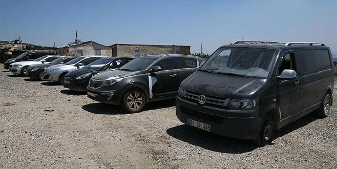 Bombalı eylemlerde kullanılacak 22 araç yakalandı