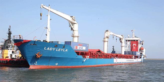 'İyilik gemisi' Aşdod Limanı'nda