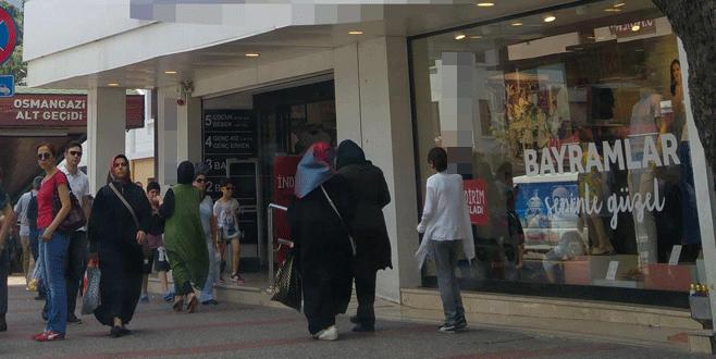 Bursa'da giyim mağazasında 'bomba var' diye bağırdı