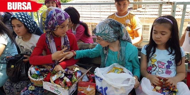 Bursa'da eski bayramları andıran görüntüler
