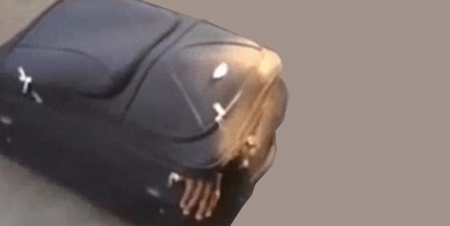 Polis böyle yakaladı! Valizden el çıkınca…
