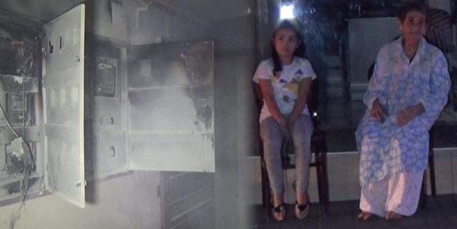 Bursa'da apartmanda korkutan yangın