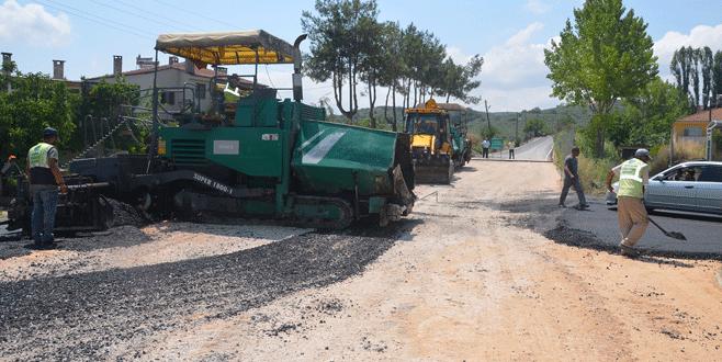 Aydınpınar'da asfalt çalışması