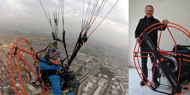 Bursalı girişimci Türk malı paramotor ile markasını uçuruyor