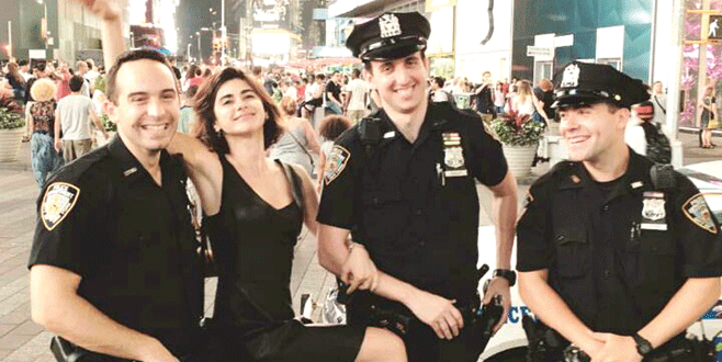 Amerikan polisi Nesrin'i sevdi