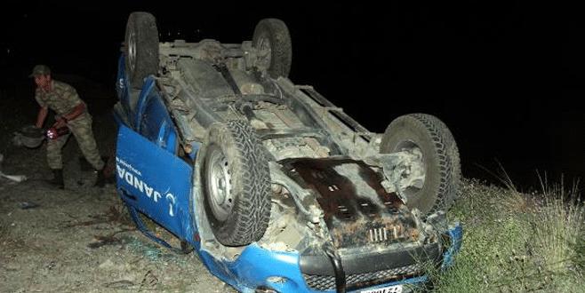 Askeri araç takla attı: 3 asker yaralı