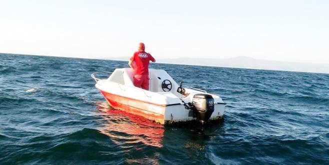Bursa'da başı boş tekne sahil güvenliği alarma geçirdi
