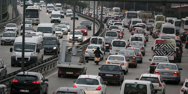 Bursa'da trafiğe kayıtlı araç 755 bine yükseldi