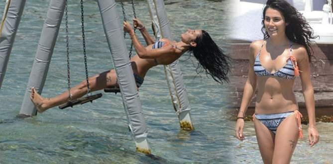 Serenay Aktaş Bodrum'da tatilde