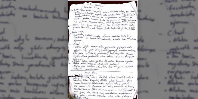 Darbeci askerin üzerinden beddua yazılı not çıktı