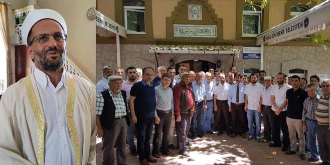Bursa'da darp edilen imama destek