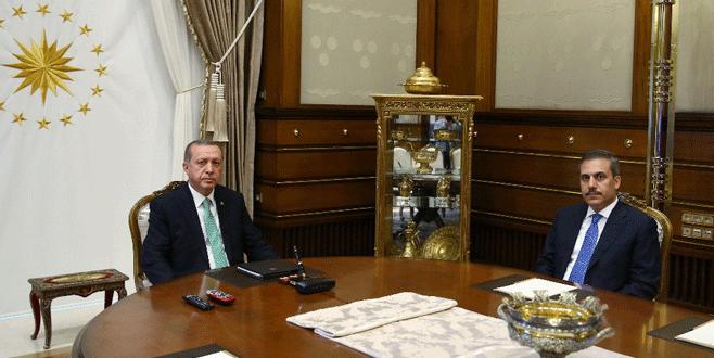 Erdoğan, MİT Müsteşarı Fidan ile görüştü