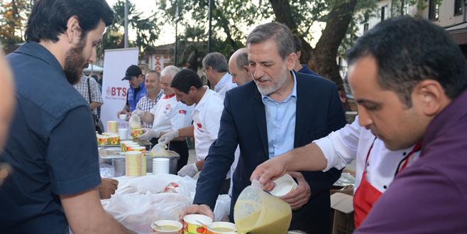 Bursa demokrasi şehitleri için Ulucami'de buluştu