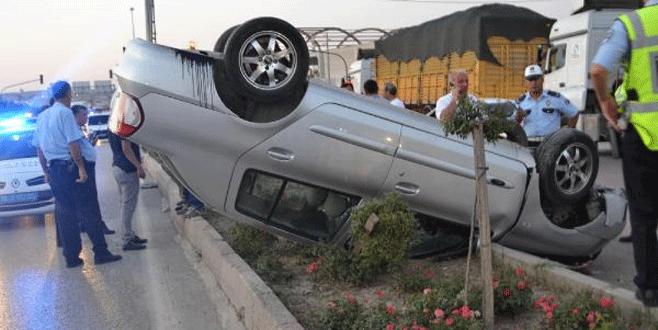 Bursa'da trafik kazası: Önüne çıkan araca çarpmamak için…