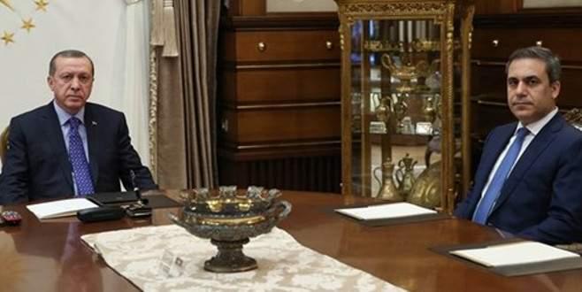 Erdoğan, Hakan Fidan'la görüşecek