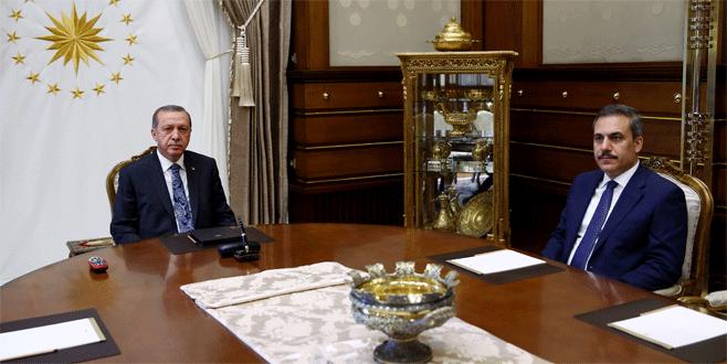 Erdoğan, Hakan Fidan'la görüştü