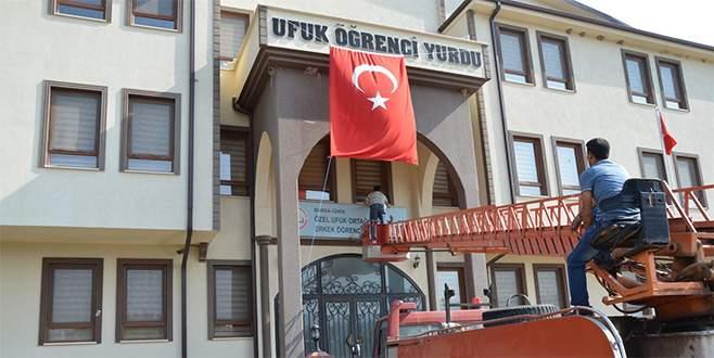 İznik'te FETÖ'ye ait öğrenci yurdu kapatıldı