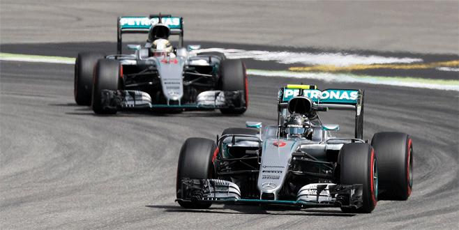 İlk sıra Rosberg'in