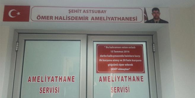 Şehit astsubayın adı Bursa'da yaşayacak