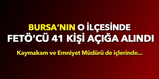 Yenişehir'de FETÖ'cü 41 kişi açığa alındı