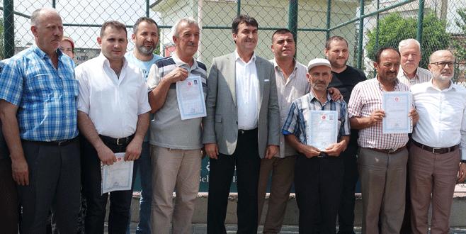 Bursa'da tapu sevinci