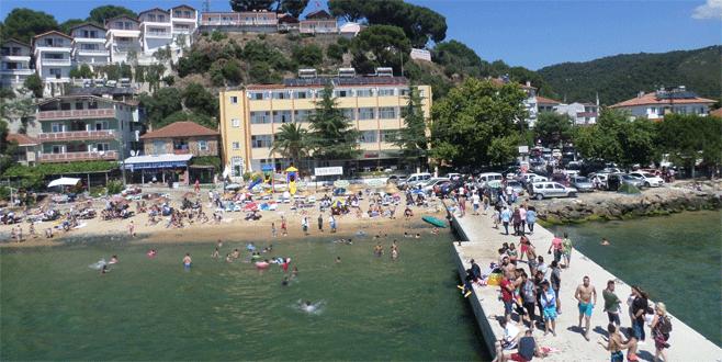 Sıcaktan bunalan Bursalılar sahillere akın etti