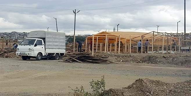 Bursa'da kurban pazar alanlarında hazırlıklar başladı