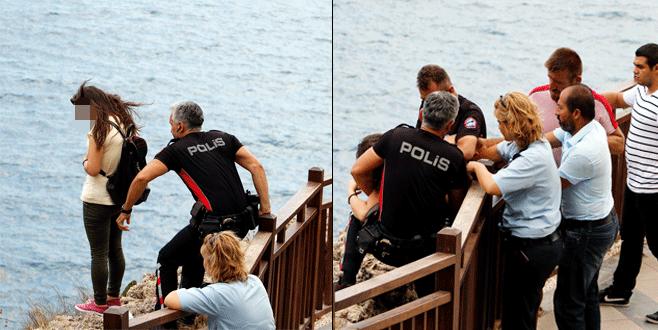 Polis ölümün kıyısından çekip aldı