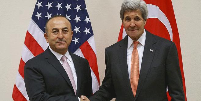 Dışişleri Bakanı Çavuşoğlu Kerry ile görüştü