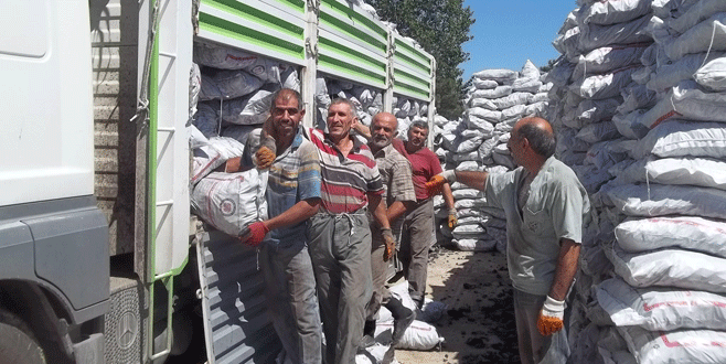 Orhangazi'de kömür yardımları başladı