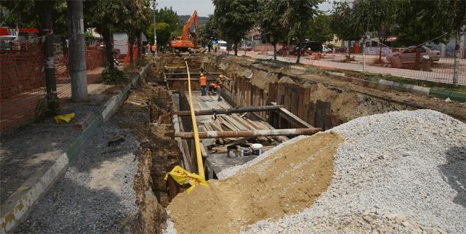 Bursa'da ilçelerin altyapı ağı yenileniyor