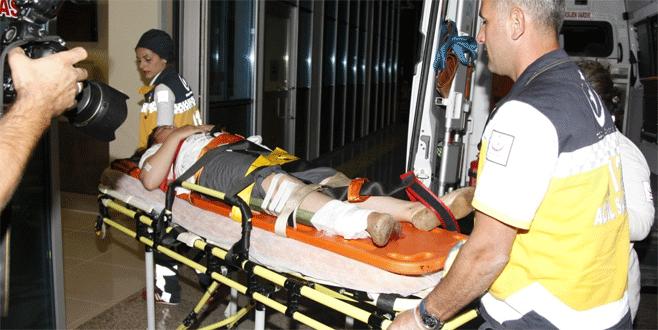 Bursa'da ayağına saplanan demirle hastaneye kaldırıldı