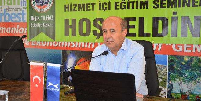 Belediye personeline Büyükşehir Kanunu anlatıldı