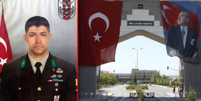 Ömer Halisdemir'in adı üniversitede yaşayacak