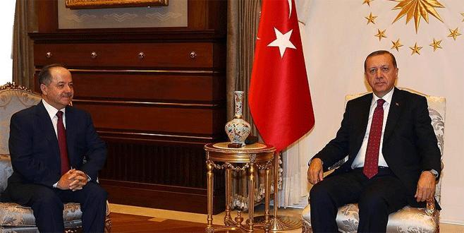 Cumhurbaşkanı Erdoğan ve Barzani terörle mücadeleyi görüştü